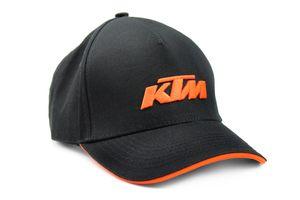 KTM Bike Industries Base Cap schwarz mit gesticktem Logo in Orange