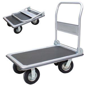 Plattformwagen 300 kg luftbereift Transportwagen Handwagen Transportkarre