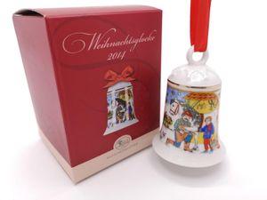 Porzellanglocke Weihnachtsglocke 2014 - Hutschenreuther - in