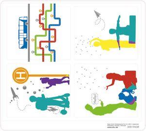 spielset Bushaltestelle Junior 36 x 15 x 9 cm 24-teilig