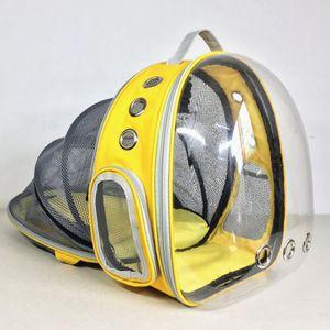 Haustier Reise Rucksack,Faltbarer tragbarer Haustier-Rucksack für Hunde und Katzen,Gelb