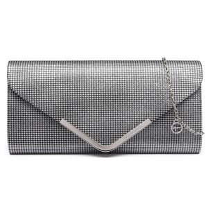Tamaris Brianna Clutch Bag Abendtasche 3275192, Farbe:Silver