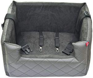Hundesitz Autositze Autokörbchen Hundeautositz Autositz für Hunde Kunstleder Lux Grau M