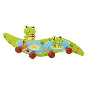 Bieco Garderobe Frosch mit 4 Haken, grün