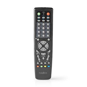 Nedis Universal-Fernbedienung | Vorprogrammiert | Anzahl der Geräte: 10 | Speichertasten / TV Guide-Taste | Infrarot | Schwarz NE550718415