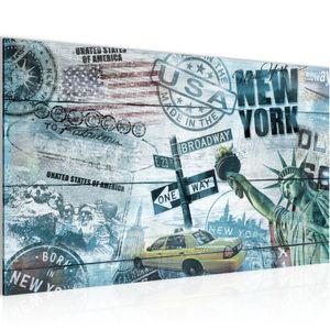 New York City BILD 70x40 cm − FOTOGRAFIE AUF VLIES LEINWANDBILD XXL DEKORATION WANDBILDER MODERN KUNSTDRUCK MEHRTEILIG 013914b