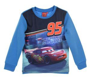 Disney Cars Jungen Sweatshirt Pullover mit Lightning McQueen, blau, Größe:128
