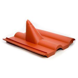 PremiumX Frankfurter Dachpfanne Rot Dachabdeckung Dachziegel Kunststoff PVC