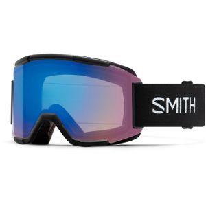 Smith Squad Skibrille Damen und Herren Snowboardbrille, Farbe:black, Glaswahl:chromapop photochromic red mirror