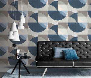 Erismann 10150-08 Elle Decoration Wandtapete Grafisch blau Tapete Wohnzimmer