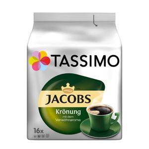 Tassimo Jacobs Krönung mit dem Verwöhnaroma | 16 T Discs, Kaffeekapseln
