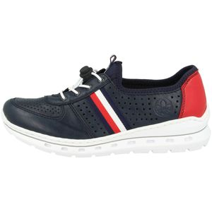 Rieker L22K5 Damen Halbschuhe Schnürschuhe , Größe:39 EU, Farbe:Blau