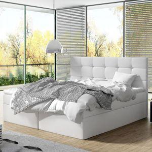 Mirjan24 Boxspringbett Luanda, Doppelbett mit zwei Bettkästen und Matratze, Ehebett (Farbe: Soft 017, Größe: 180x200 cm)