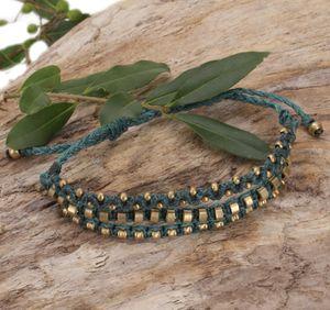 Perlenarmband, Makramee Armband, Herren Armband - Türkis, Armreifen & Armbänder Modeschmuck