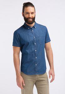 MUSTANG Herren Hemd Jeanshemd Slim Fit Farbe: mittelblau Größe: S