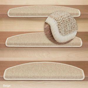 Metzker Stufenmatten Treppenmatten Rambo New Halbrund SparSet - Beige 16 Stück