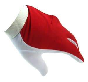 Billard Handschuh Größe XL, Rechtshänder Pool Snooker weiß-rot Klettverschluss