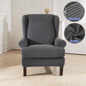 Sitzer Sofahusse Stretch Sofabezug Armlehnenschoner Sesselschoner Sesselbezug Grau