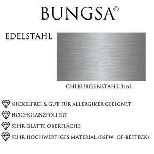 54 (17.2) Ring mit zwei Außenringen Silber aus Edelstahl Uni