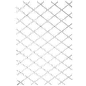 Hochwertigen Garten-Rankgitter Garten-Pflanzenstütze 50x150 cm PVC Weiß 6040701