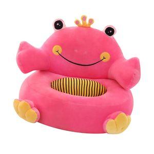 Weiche Plüsch Stofftier Abdeckung Sitzsackhülle Sitzsack Sitzkissen Sitzsäcke für Kinder Rosa Frosch wie beschrieben