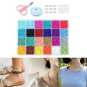 14523Pcs Glas Seed Perlen Lose Spacer Schmuck Machen Perlen für Kinder und Erwachsene Handwerk DIY Armband Halskette Ohrringe Herstellung (24 farben)