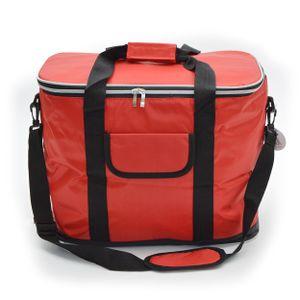 Kühltasche 30L mit Schultergurt, XXL isolier Kühlbox - Rot