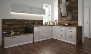 Küchenzeile 290x210cm L-Form 7-tlg. weiß / weiß Hochglanz Acryl Einbauküche Küchenblock Küchenzeile 290x210cm L-Form 7-tlg. weiß / weiß Hochglanz Acryl Einbauküche Küchenblock Küche