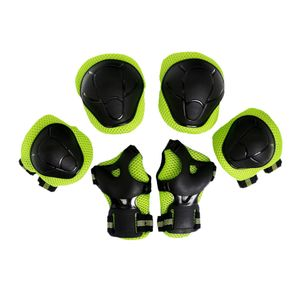 6 Stück Kinder Kinder Inline & Roller Skating Roller Knie Handgelenk Farbe Grün