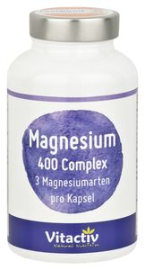 MAGNESIUM 400 mg Complex, hochwertige, natürliche Magnesium-Kombination aus 3 verschiedenen Magnesium-Arten