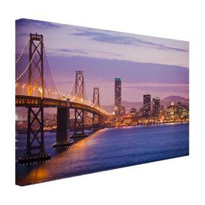 Leinwand Bilder - 30x20 cm - Abendlicht San Francisco  - Modernes Wandbilder - Amerikanische Städte