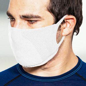 TRERE Social Mask Sportmaske Mund-Nasen-Bedeckung white L