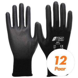 NITRAS 6215 Nylon Strickhandschuh, Schutzhandschuhe, Gartenhandschuhe - 12 Paar Größe:10