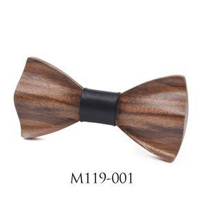 Dreidimensionale Holz Fliege für Männer Jäten Holz Bowtie Handgefertigte Holz Krawatten -(119001,)