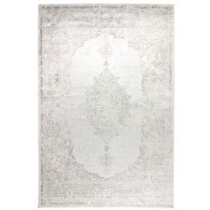 Kunstseide Teppich Vintage Ornament, Farbe:Silber, Größe:120 x 170 cm