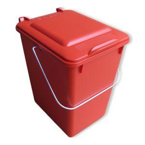 SULO Mülltonne, Mülleimer, Vorsortierer Bioboy Abfalleimer 10 Liter rot (10 Sulo rot)