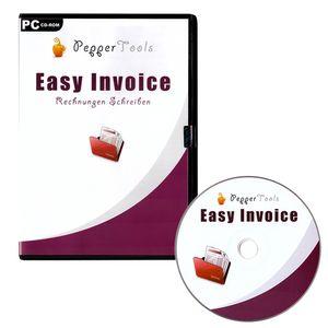 Easy Invoice Rechnungsprogramm für Kleinunternehmer und mittelständische Unternehmen | CD | Windows 7, 8 ,10