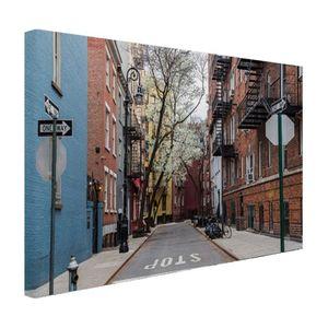 Leinwand Bilder - 60x40 cm - Greenwich Dorf Straßenbild New York  - Modernes Wandbilder - Amerikanische Städte