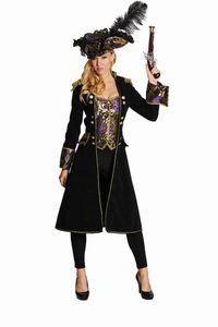 Rubie's dress up Kostüm Piratin Damen schwarz/lila Größe 44
