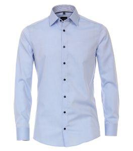 Größe 43 Venti Hemd Hellblau mit Besatz Langarm Modern Fit Moderne Schlanke Passform Kentkragen Kombimanschette 100% Baumwolle Bügelfrei