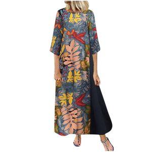 Plus Size Frauen Lady Dot Print Pachwort O-Ausschnitt Kurzarm Taschen Casual Dress Größe:XXXL,Farbe:Navy