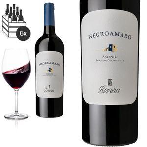 6er Karton 2017 Negroamaro Salento IGP trocken von Rivera Azienda Agricola - Rotwein