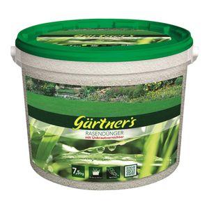 Gärtners Rasendünger mit Unkrautvernichter Mischdünger 7500g
