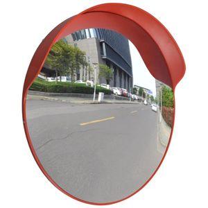 vidaXL Verkehrsspiegel Konvex PC-Kunststoff Orange 60 cm Outdoor