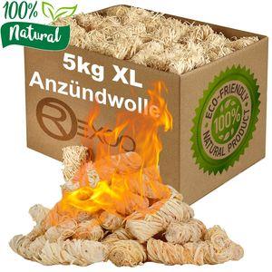 5kgKaminanzünder Anzünder Holzwolle Anzündwolle Grillanzünder Feueranzünder Anzündhilfe Wachs Öko (Grill-, Kamin- & Ofenanzünder) - umweltfreundlich
