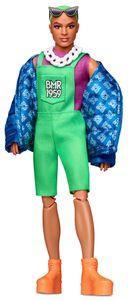 Barbie BMR1959, voll bewegliche Ken Modepuppe mit neonfarbenem Haar