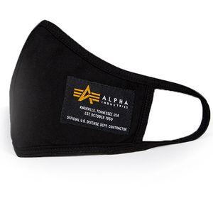 Alpha Industries Crew Mund- und Nasen Maske Facemask schwarz