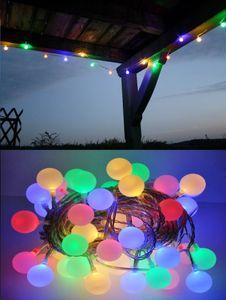LED Lichterkette Bunt oder Warmweiß Partylichterkette LEDs stabile Kugeln IP44, Farbe:Bunt, Länge:10 m
