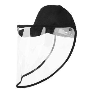 Mllaid Transparenter, atmungsaktiver, winddichter, staubdichter Baumwollmützenschild zum Schutz von Augen und Gesicht Anti-Saliva-Gesichtsschild