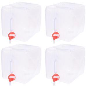 4er Set Wasserkanister 10 Liter Faltbar Lebensmittelecht Für Trinkwasser Geeignet Trinkwasserkanister Wassertank Mit Hahn Kunststoffkanister Camping Wasser Kanister